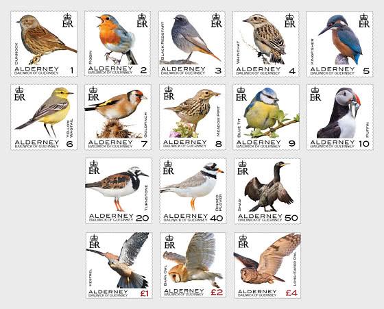 Definitives - Alderney Birds - Set