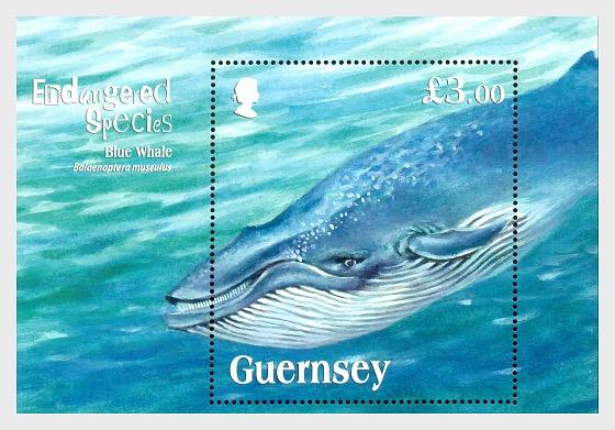 Endangered Species - Blue Whale - Miniature Sheet