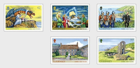 Sark 450 Years as a Fief to the Crown - Set