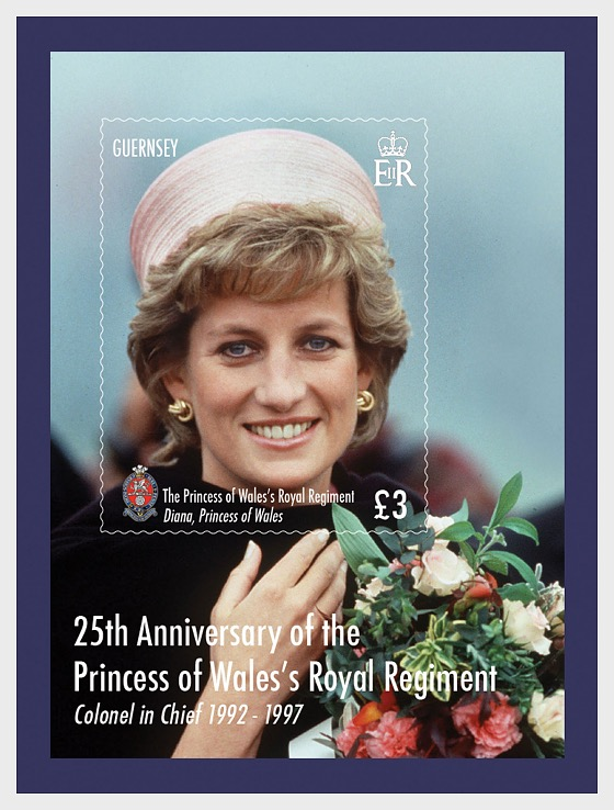 25 Years Princess of Wales's Royal Regiment - Miniature Sheet