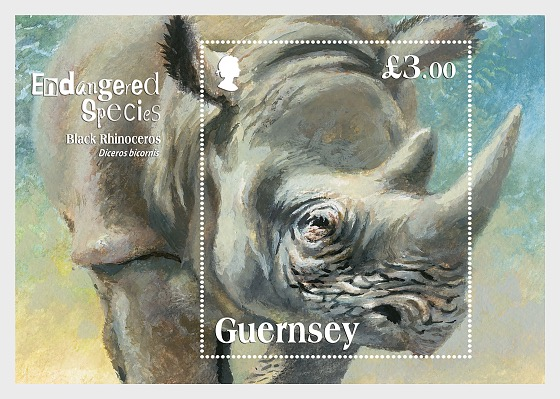 Endangered Species - The Black Rhinoceros - Miniature Sheet
