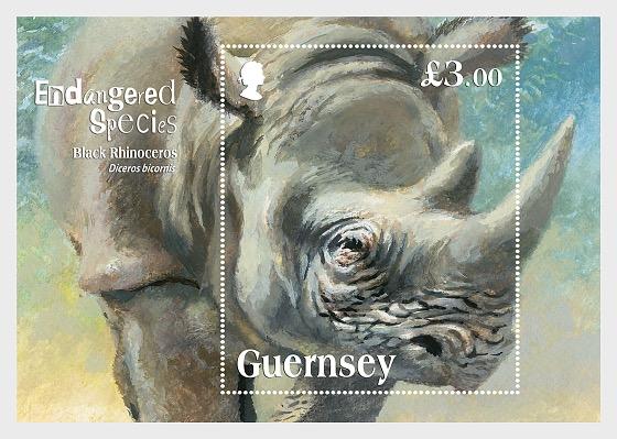 Specie in via di Estinzione - Il Rinoceronte Nero - Foglietti