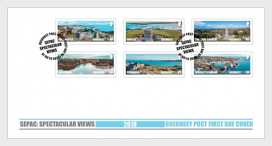 Sepac 2018 - Spectacular Views - First Day Cover