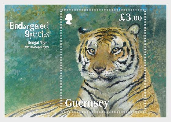 Endangered Species Bengal Tiger - Miniature Sheet
