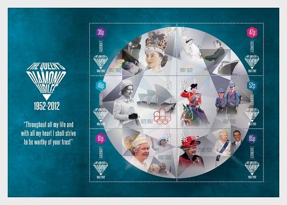 The Queen's Diamond Jubilee - Miniature Sheet