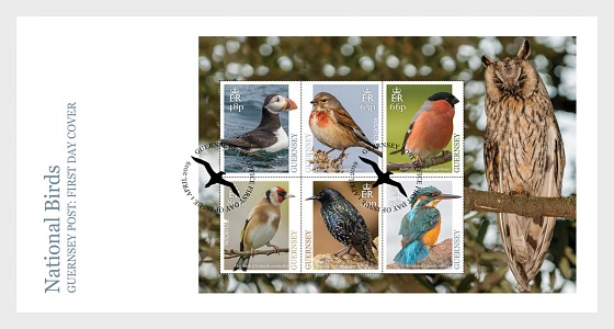 Europa 2019 - National Birds - FDC M/S - First Day Cover