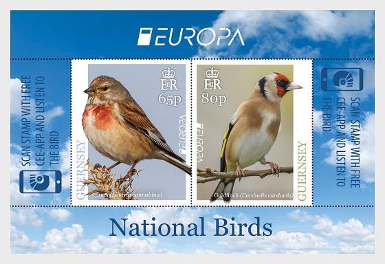 Europa 2019 - National Birds - Europa Mini Sheet (65p & 80p) - Miniature Sheet