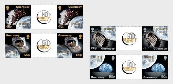 50ème Anniversaire du Débarquement de la Lune - Gutter Pairs Set
