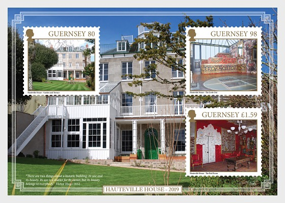 Sepac 2019 - Old Residential Houses - Hauteville House 2019 - Miniature Sheet