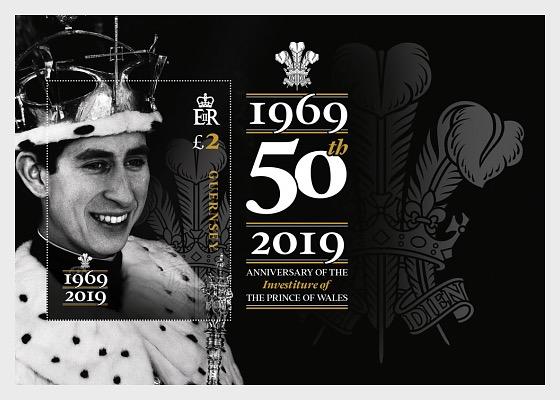 50 Aniversario de la Investidura del Príncipe Carlos - Hojas Bloque