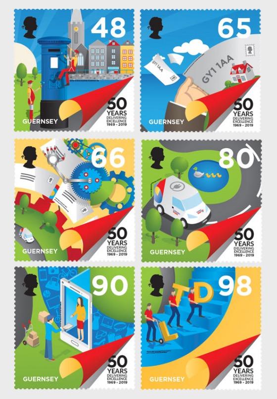 50th Anniversary - Postal Independence - Set