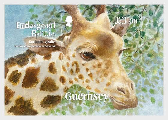 Endangered Species 2020 - Kodofan Giraffe - Miniature Sheet