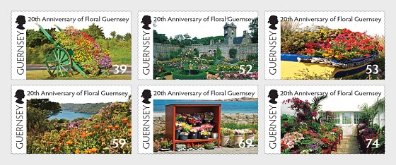 20th Anniversary of Floral Guernsey - Set