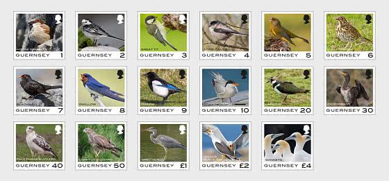 Guernsey Definitive - Birds - Set