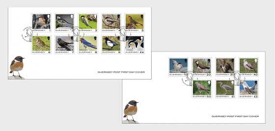 Definitivo di Guernsey - Uccelli - FDC