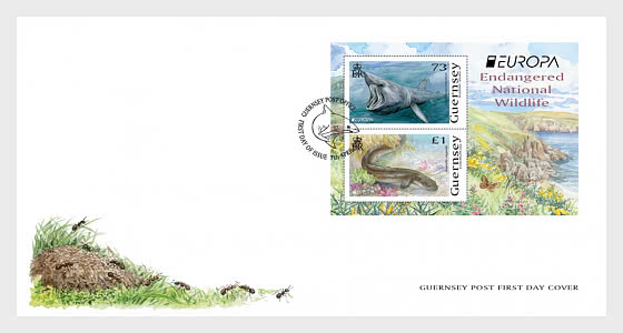 Europa 2021 - Endangered National Wildlife - FDC M/S - First Day Cover