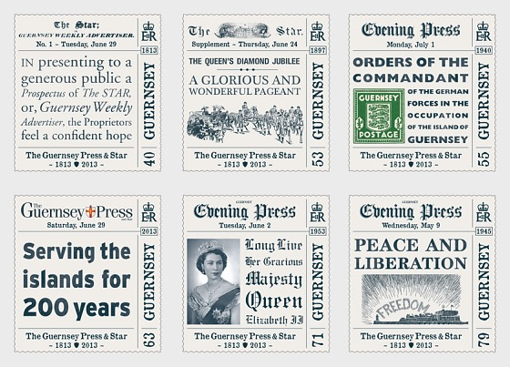 The 200th Anniversary Of The Guernsey Press And Star - Set