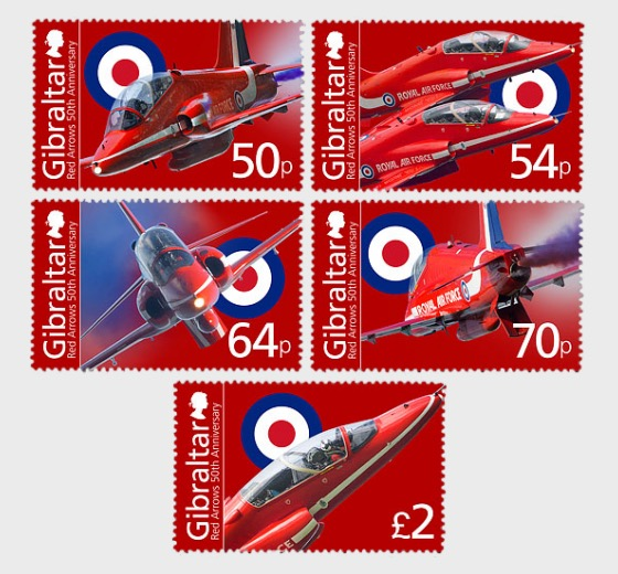50th Ann of the Red Arrows - Mint - Set