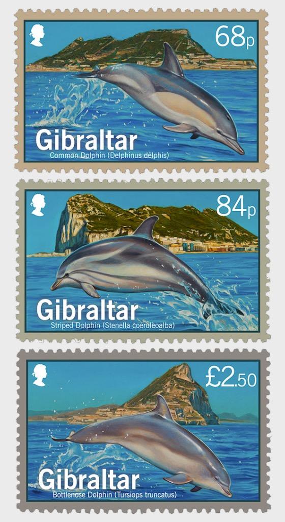 Dolphins of Gibraltar - Mint - Set