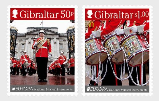 Europa 2014- 'Musical Instruments' - Mint - Set
