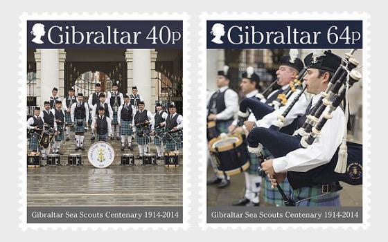 Gibraltar Sea Scouts Centenary - Mint - Set