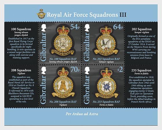 RAF Squadrons III - Miniature Sheet