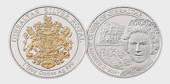 Silver Royal Coin - Gold Crest - Silver Coin
