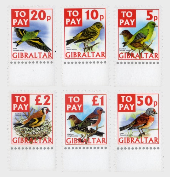 To Pay Labels 2002 - Birds - Set