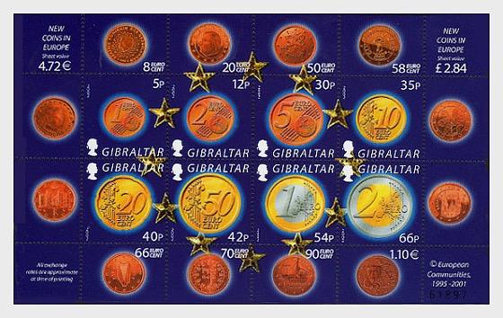The Euro (new EU coins) - Miniature Sheet