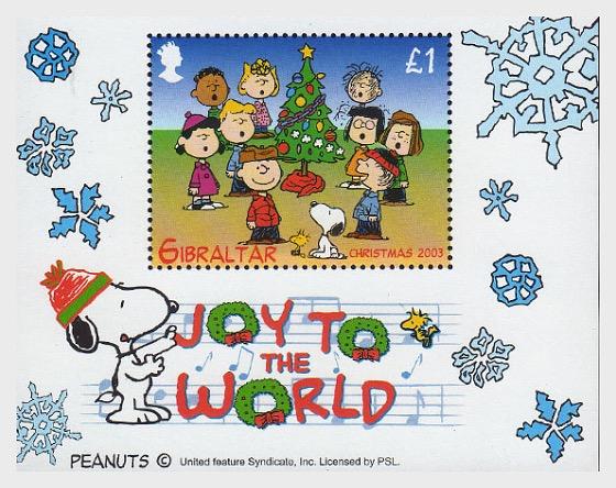 `Peanuts/Snoopy` Christmas - Miniature Sheet