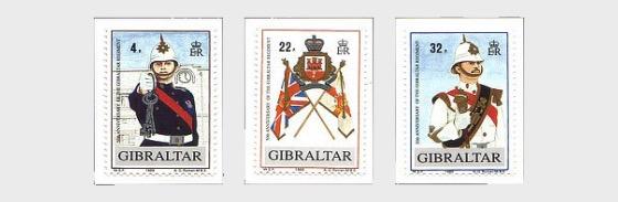 50th Ann. Gibraltar Regiment 1989 - Set