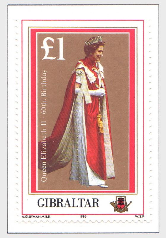 1986英国女王伊丽莎白二世第60 (目录价格) - 套票