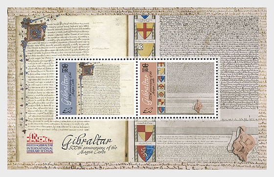 800 ° anniversario della Magna Carta - Foglietti