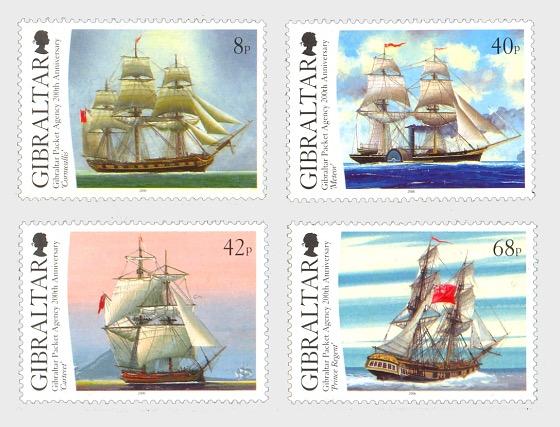 直布罗陀信函输送机构创建200周年 - 套票
