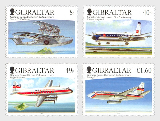 75th Anniversary of Airmail - Set