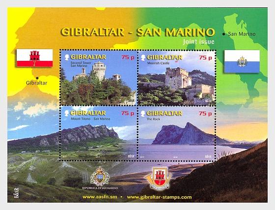 Joint Issue Gibraltar - San Marino - Miniature Sheet