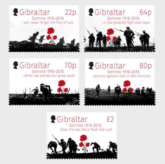 100 ° Anniversario Battaglia della Somme - Serie