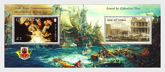 Joint Issue Gibraltar -IOM - Miniature Sheet