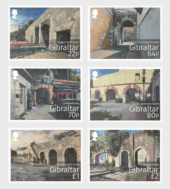 Gibraltar Historic Gates - Mint - Set