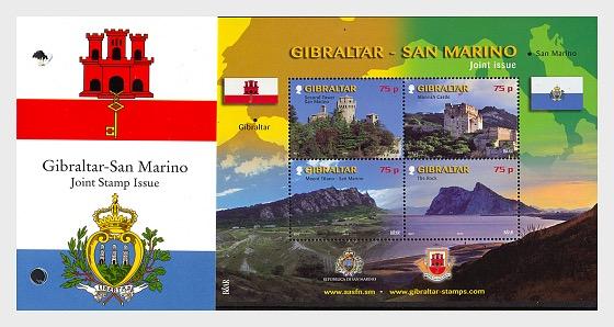Joint Issue Gibraltar - San Marino - Presentation Pack