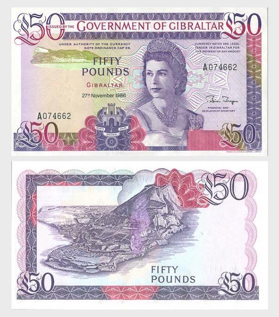 1986£50钞票 - 钞票