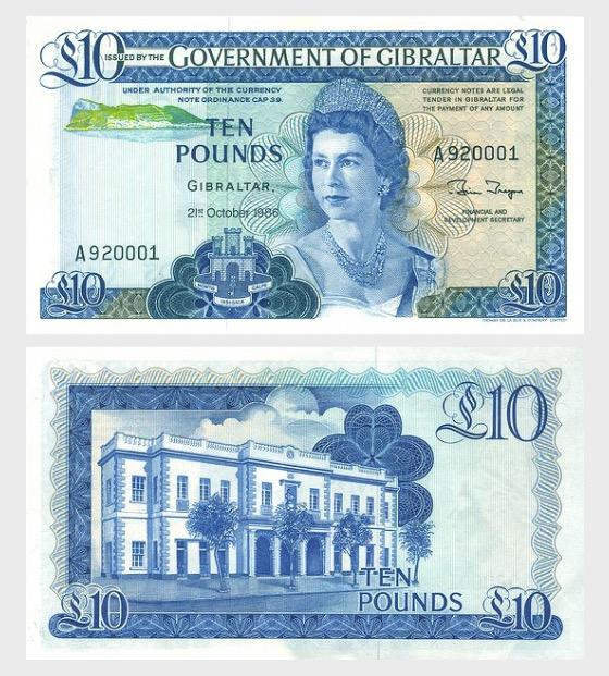 1986£10钞票 - 钞票