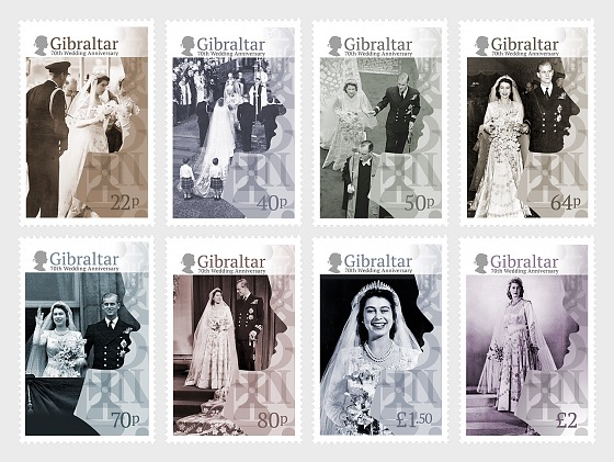 HM Queen Elizabeth's 70th Wedding Anniversary - Set
