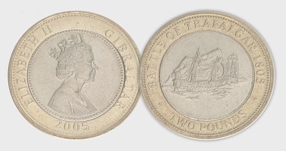2005 £2 Battle of Trafalgar  - Single Coin