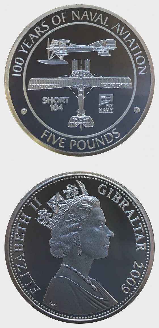 Short 184 - 100 Years of Naval Aviation - Silver Coin