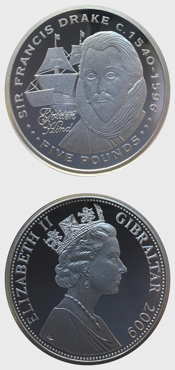 Silver Sir Francis Drake - Explorers - Silver Coin