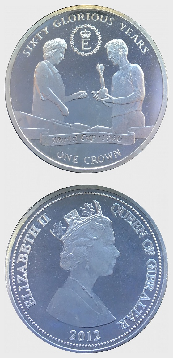 60 Glorious Years Coin 2 - World Cup - Gedenk