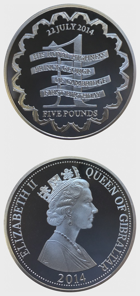 Prince George 1st Birthday - Silver Coin