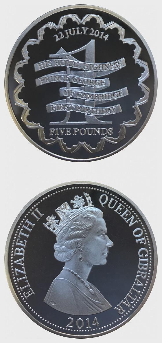 Prince George 1st Birthday - Silbermünze