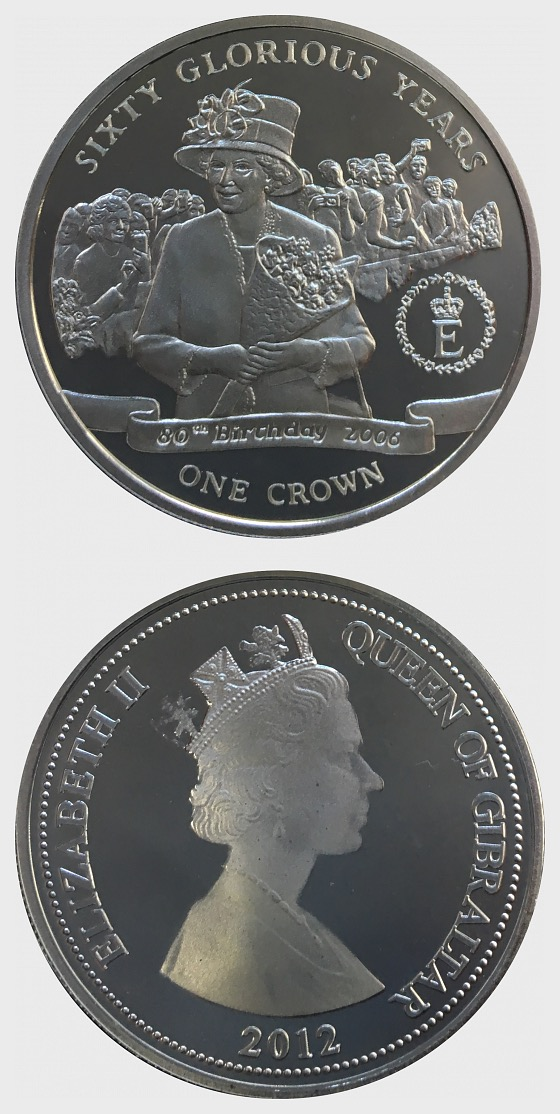 60 Glorious Years Coin 3 - Queen's 80th Birthday - Gedenk